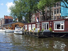 Wohnboot in Amsterdam